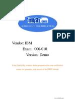 CertifySky IBM 000-010 FREE Training Materials & Study Guide 2009