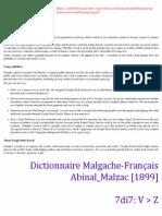V-Z (7di7) - Dictionnaire Malgache-Français  Abinal_Malzac [1899]
