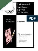 Cwea Enviro Compliance Handbook