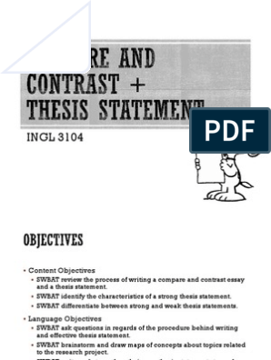 Essays In Science  How To Write A Thesis Statement For A Essay also Thesis Statement For Process Essay Compare And Contrast Thesis Statement  Essays  Thesis Persuasive Essay Thesis Examples