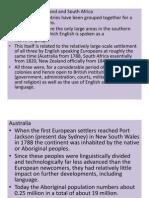 Australia and New Zealand English