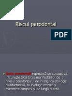 Curs Risc Parodontal Tehnica Dentara