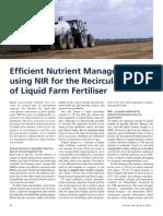 Efficient Nutrition Management