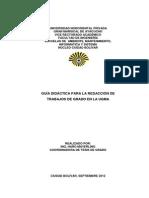 Modelo de Realizacion de Trabajo de Grado 2012