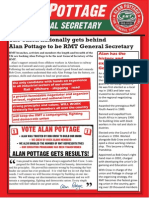Alan Pottage for General Secretary newsletter