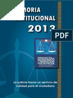 Memoria Institucional PMSJ 2013