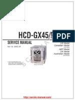 Sony Hcd-gx45 Rg440 Ver-1.0