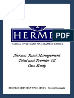 Hermes Fund Management Total and Premier Oil Case Study