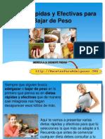 Dietas Rápidas y Efectivas Para Bajar de Peso