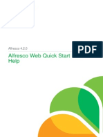 Alfresco One Web Quick Start User Help