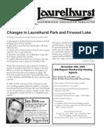 Laurelhurst Neighborhood Association Newsletter - November 2009