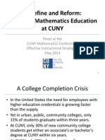 Redefine and Reform: Remedial Mathematics Education at CUNY - Dr. Michael George, Prof. Eugene Milman, Dr. Jonathan Cornick, Dr. Karan Puri, Dr. Alexandra W. Logue, Prof. Mari Watanabe-Rose