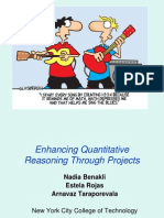 CUNY Math Presentation- Enhancing Quantitative Reasining Through Projects - Benakli-Rojas-Taraporevala