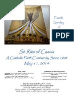 St. Rita Parish Bulletin 5/11/2014