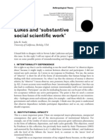 Searle - Lukes and 'substantive social scientific work'
