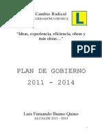 Plan Gobierno PG-31-140112 Chosica 2011-2014
