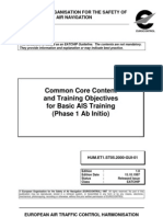Common Core Content and Training Objectives for Basic AIS Training _phase 1_Ab Initio
