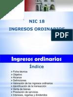 R. TEMA 8 - NIC 18 - Ingresos Ordinarios