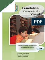 Arabic Translation Grammatically-Viewed