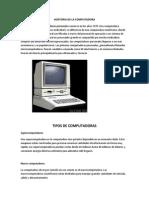 Hostoria de La Computadora