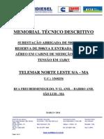 Memorial Descritivo SE 500kVA - TELEMAR -OI