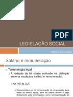 Aula 4 - Legislação Social - Salário e Remuneração
