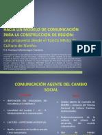 Hacia un modelo de comunicación para la construcción de región