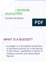 Rooms Division Budgeting