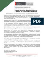 Ministro del Interior inauguró Segunda División de Investigación Criminal de San Juan de Lurigancho