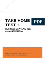Test 1 Take Home LAW 416