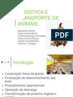 Logística e transporte de animais - frango