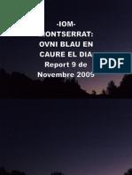 -Iom-montserrat-ovni Blau en Caure El Dia- Report 9 de Novembre 2009