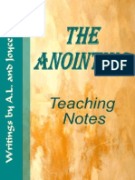 The Anointing - Teaching Notes