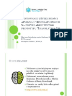 www.ucd.com.pl, Dziechciaronek, Testowanie użyteczności aplikacji translatorskich
