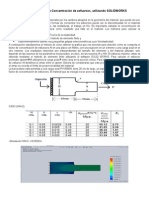Calculo Del Factor Concentracion Esfuerzos Utilizando Solidworks