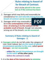 Summary of Rules Relating to Award of Damages