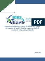 Herramientas  disponibles  en  línea  de  utilidad  para  evaluar  los  impactos  del  cambio  climático  y  apoyar  el  diseño  de  medidas  de  adaptación  y  mitigación