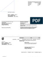 International Package Services Invoice