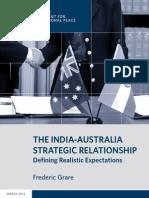 The India-Australia Strategic Relationship