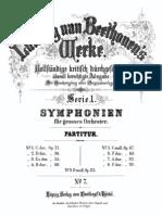 Beethovens Werke Breitkopf & Härel Serie 1 No 7 Siebente Symphonie, Op.92, a moll (Complete Score)