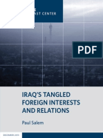 Iraq's Tangled Foreign Interests and Relations