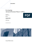 Investigating Advanced Persistent Threat 1 (APT1)