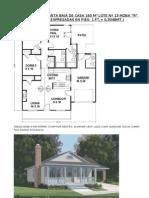Plano Corte Planta Baja Casa