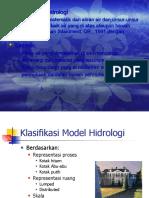 Klasifikasi Model Hidrologi DAS