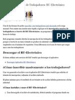 Inscripción Masiva de Trabajadores- RU-Electrónico - Los Impuestos