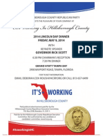 2014 Lincoln Day Dinner for Hillsborough County Republican Party