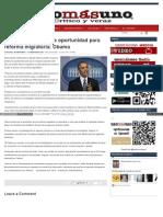 El Presidente Estadunidense Barack Obama Advirtió Hoy Que La Ventana de Oportunidad