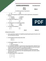 Business Mathematics Mid Term