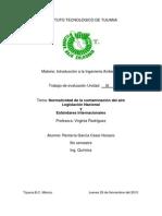 Normatividad de La Contaminación Del Aire. Legislación Nacional. Estándares Internacionales