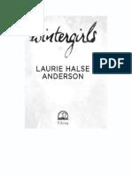 Wintergirls  - Laurie Halse Anderson